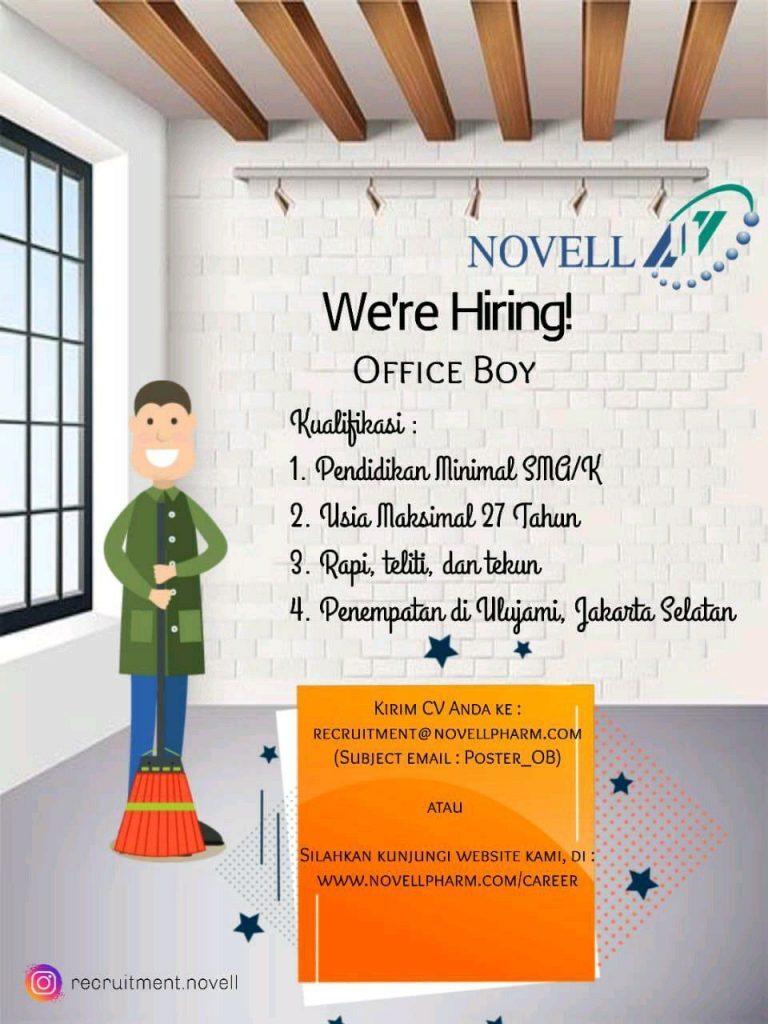 Lowongan Office Boy PT. Rekrutmen Laboratorium Farmasi Novell - MyRobin