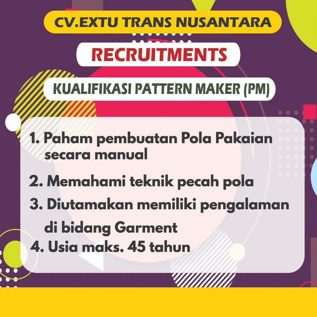 Loker Desember CV. Extu Trans Nusantara - MyRobin