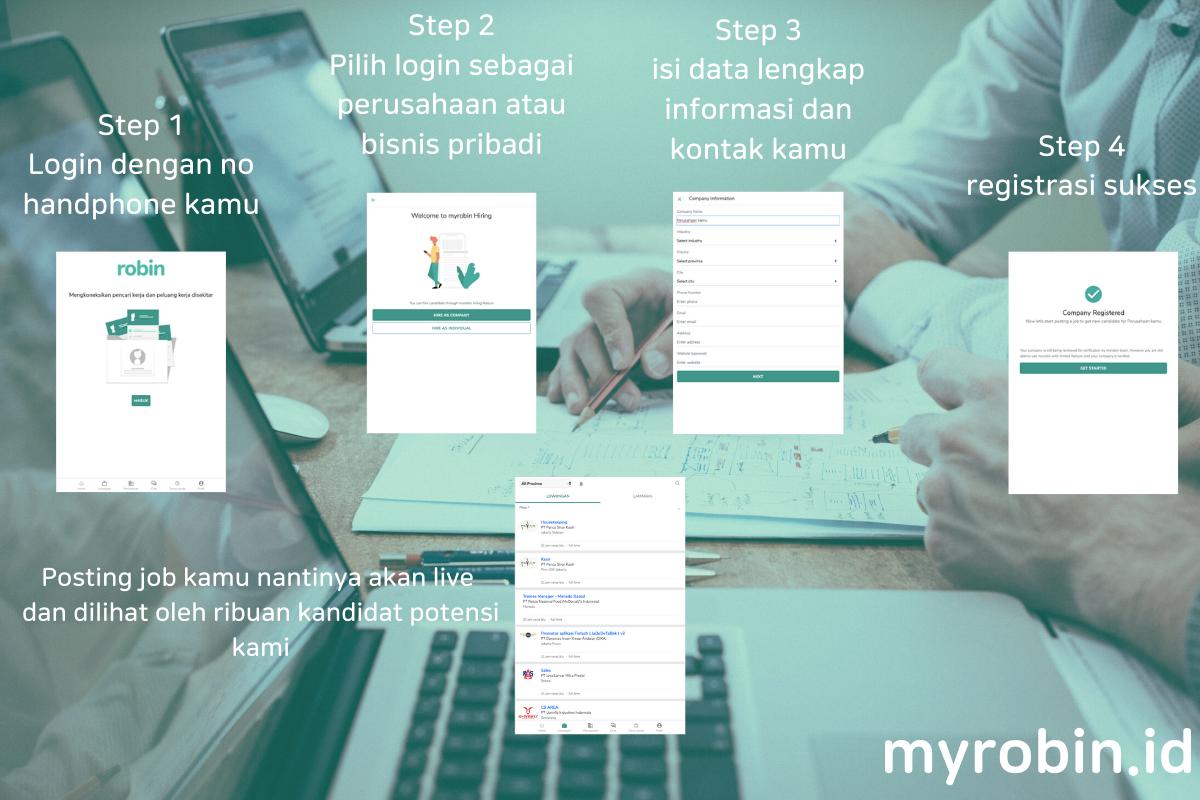 Cara Posting Jobs dari PWA myrobin.id - MyRobin